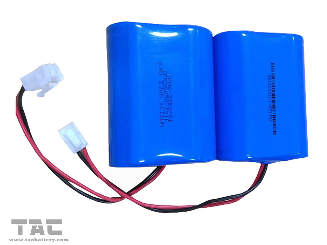 6.4V 3.3Ah Lithium Iron Phosphate Battery Pack for Home Solar System
