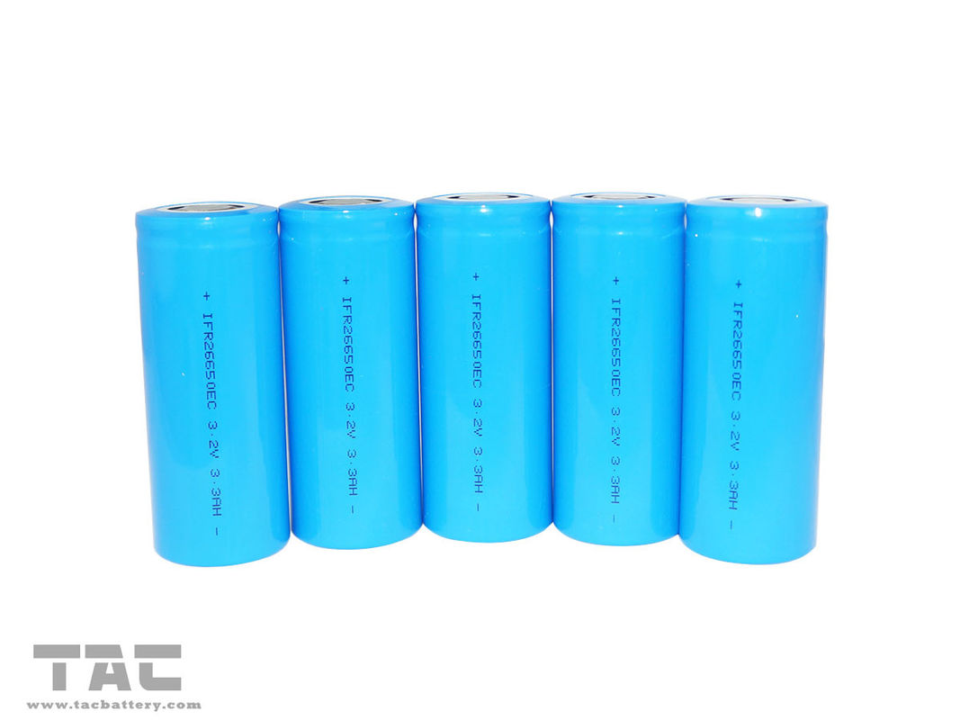 High Rate Discharge 26650 3.2v Lifepo4 Battery 3300mAh For Power Supply