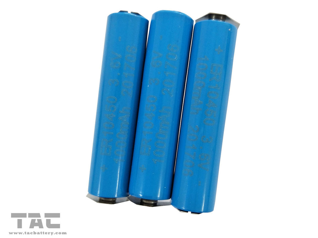 ER10450 3.6V 1Ah Li-SOCl2 High Voltage Battery 1000mAh ER10450 For Voting System