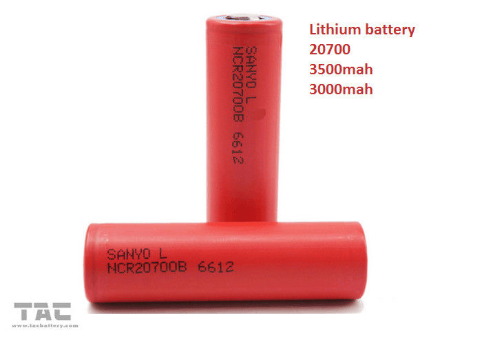 20700 Lithium Ion Cylindrical Battery For Electrical Vehicle 3.7V 3000MAH 30C
