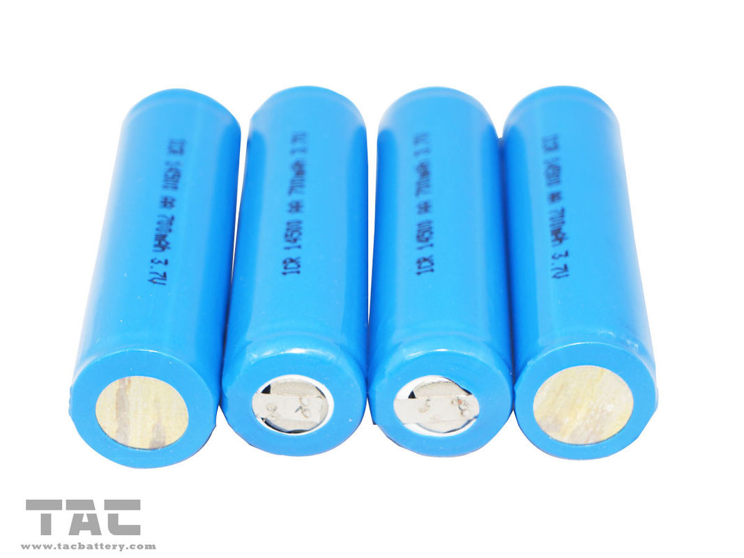 3.7V ICR14500 Lithium ion Cylindrical Battery Of 600mAh With PCB