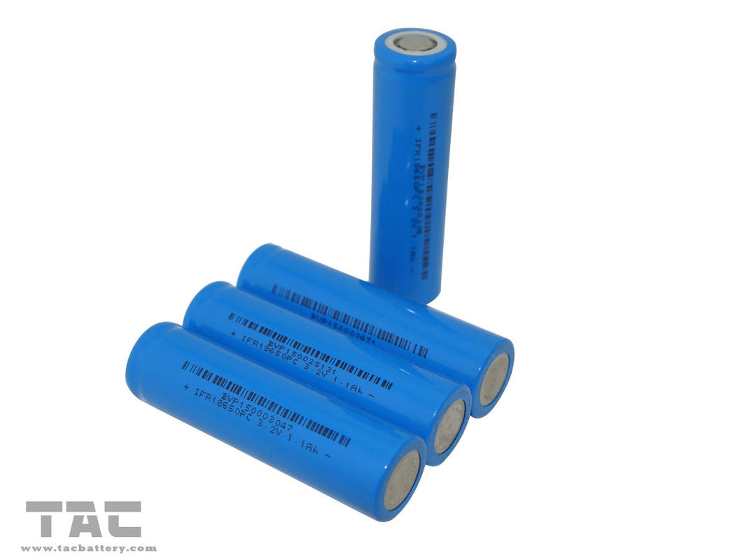 High Power LFP battery 18650 3.2V Lifepo4 Battery 1100mah For Electric Cars