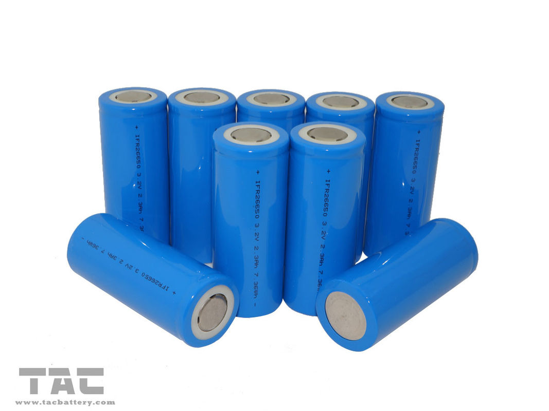 Cylindrical 3.2V LiFePO4 Battery LIR18650 1100mAh Power Type for High Power Devices