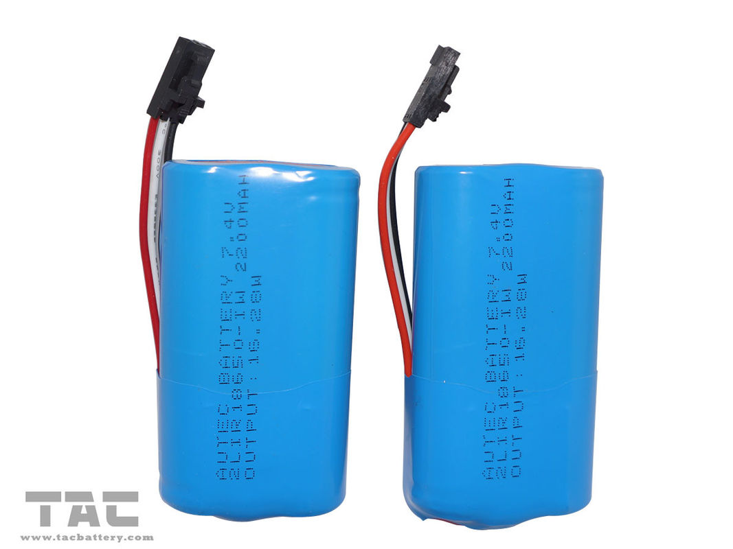 18650 Lithium Battery  For Cellular Phones INM 7.4V Lithium Ion 2200mAh Pack