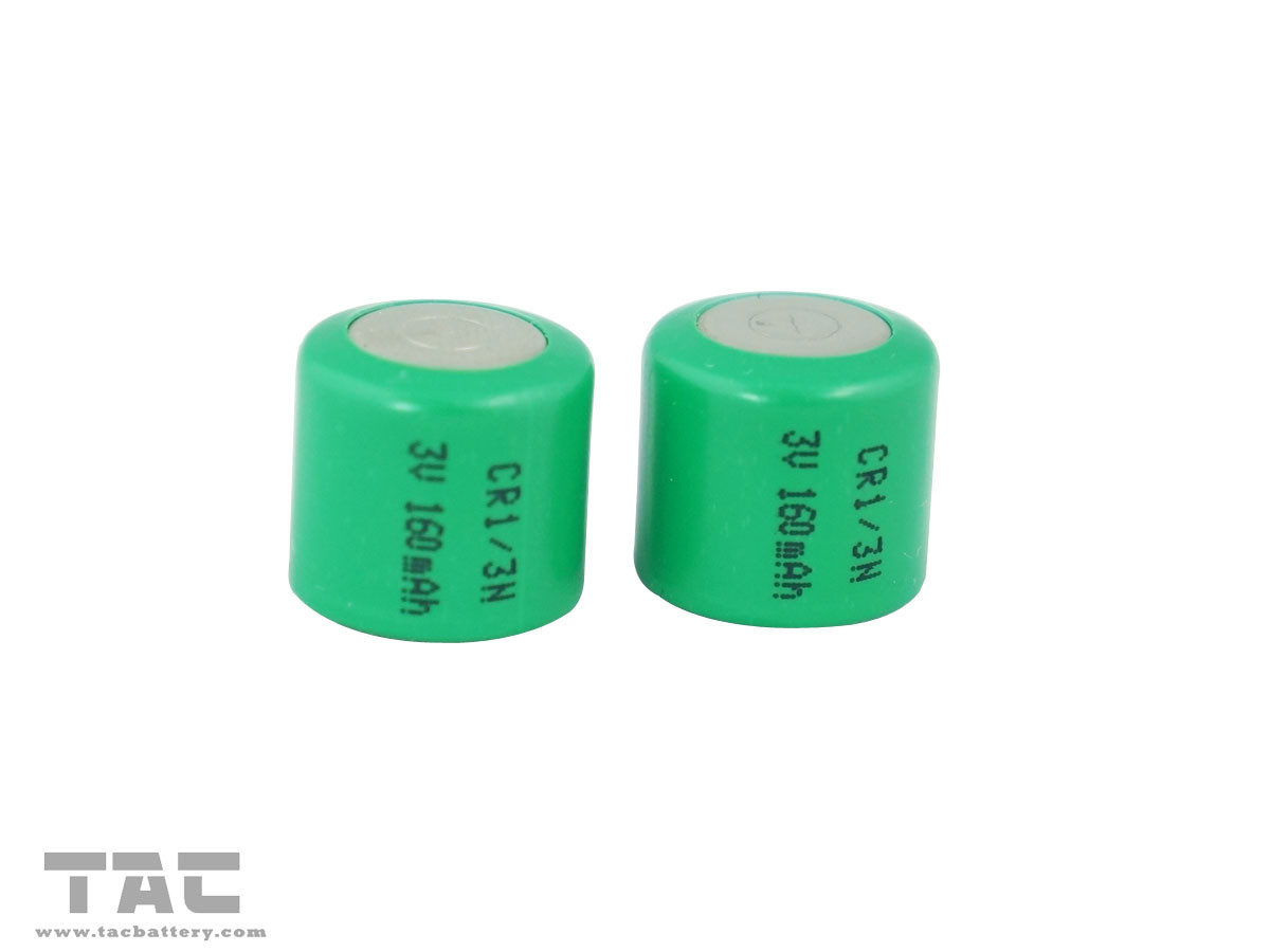 High energy density 3.0V CR1/3N 160mAh Li-MnO2 Primary Lithium Battery