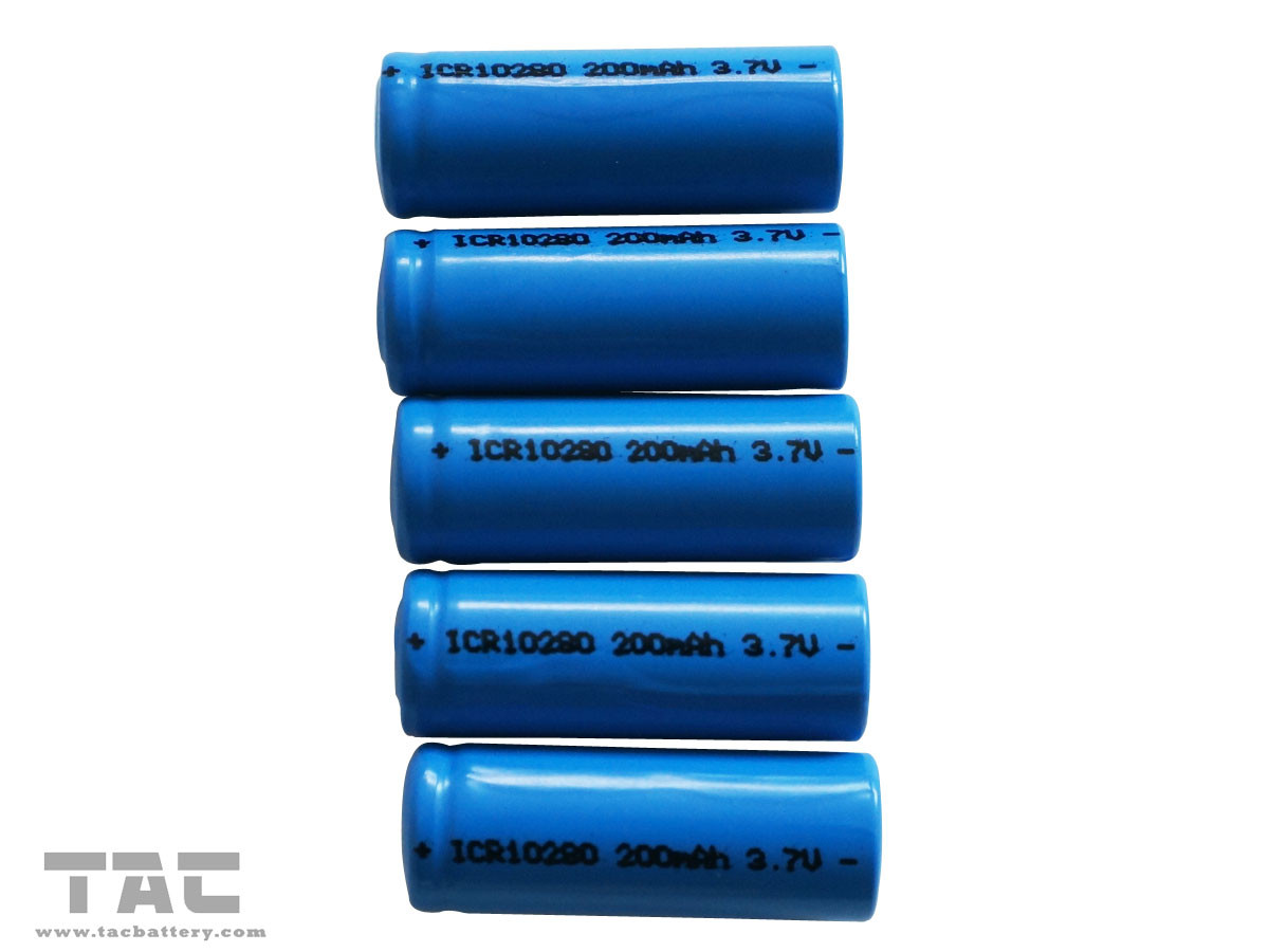 ICR10280 Lithium Ion Cylindrical Battery 3.7V  200mAh  Long Cycle Life