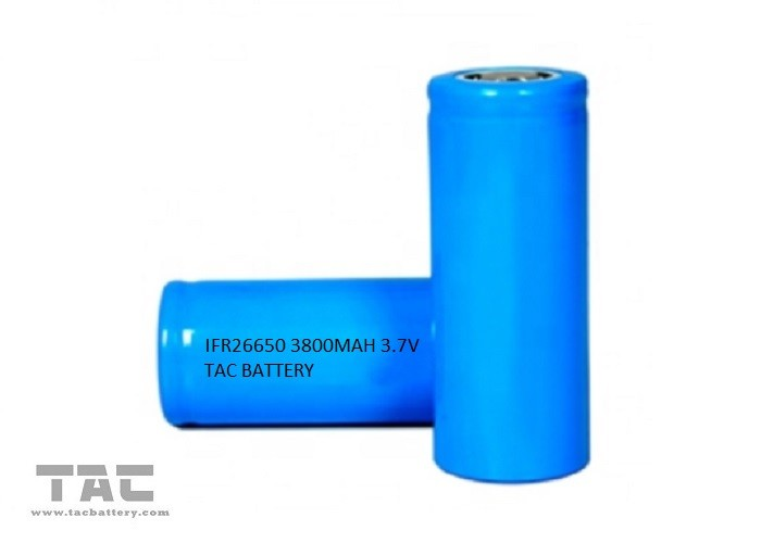 Cylindrical Lithium Ion LiFePO4 26650 Battery Cell 3800mah